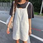 Mini Denim Pinafore Dress