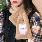 Pig Chenille Scarf