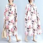 Printed Round Neck Maxi Dress