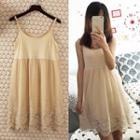 Strap Lace Panel Dress