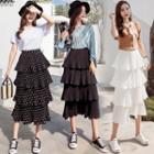 Chiffon Midi Tired Skirt