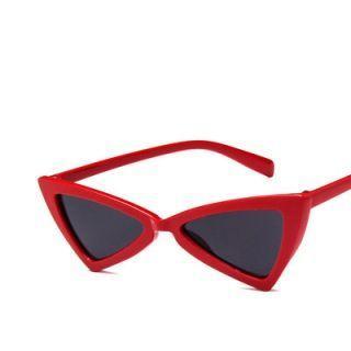 Chunky Frame Triangle Sunglasses