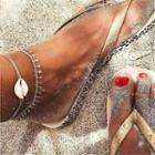 Shell Anklet White & Silver - One Size