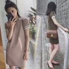 Knitted Short-sleeve Dress