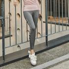 Contrast-trim Lettering Yoga Pants