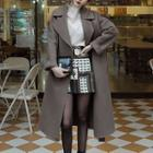 Woolen Coat With Sash