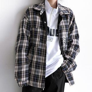 Plaid Shirt Plaid - Black - M