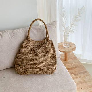 Woven Faux-straw Tote
