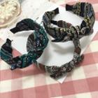 Patterned Bow / Knotted Fabric Headband