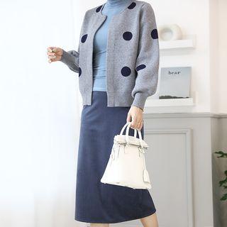 Ribbed Velvet Long H-line Skirt