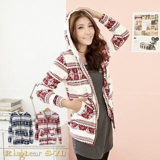 Snowflake-print Hooded Jacket
