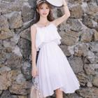 Strappy Midi A-line Chiffon Dress