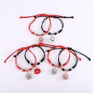 Alloy Pig String Bracelet