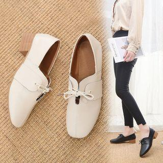 Bow Square Toe Shoes