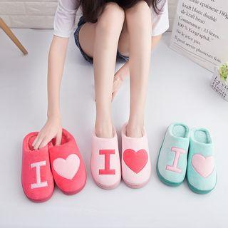 Furry Applique Slippers