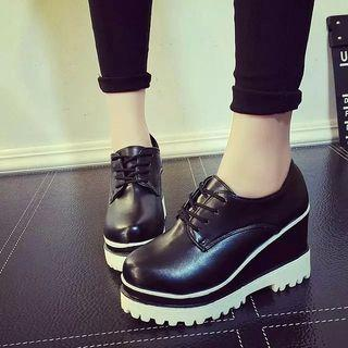 Wedge Platform Oxfords