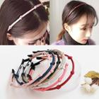 Knot Faux Leather Hair Band