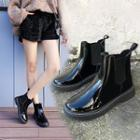 Patent Ankle Chelsea Boots