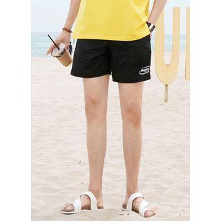 Letter-printed Beach Shorts