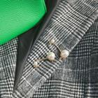 Faux-pearl Safety Pin Brooch