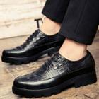 Croc Print Platform Oxford Shoes