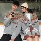 Couple Matching Pattern Sweater / Cardigan
