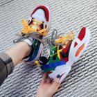 Multicolor Chunky Platform Sneakers