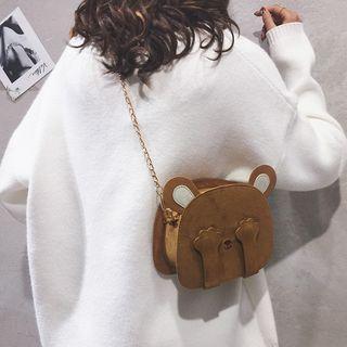 Chain Strap Bear Crossbody Bag