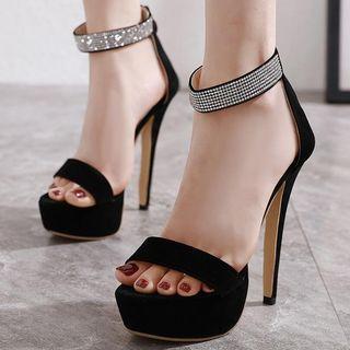 Strappy High-heel Platform Sandals