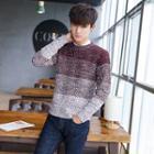 Gradient Long-sleeve Knit Sweater
