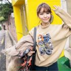 Crew-neck Printed Sweatshirt