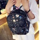 Print Studded Backpack