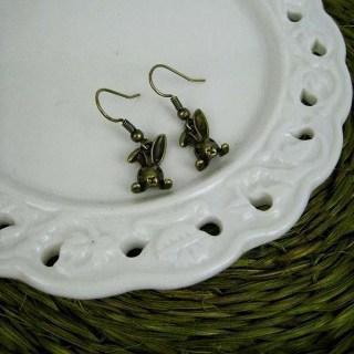 Copper Bunny Earrings Copper - One Size