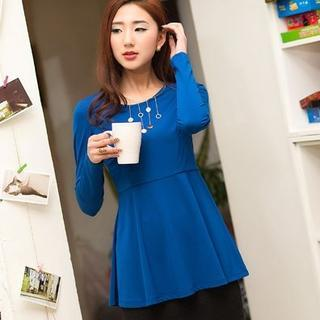 Long-sleeve Peplum Top
