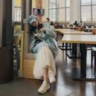 Accordion-pleat Maxi Tulle Skirt