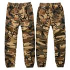 Elastic Waist Camouflage Jogger Pants