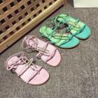 Metal-accent Flat Sandals