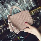Tasseled Woven Handbag