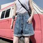 Frayed Dem Denim Shorts