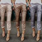 Sequined Skinny Pants