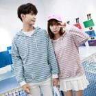 Striped Couple Matching Hoodie