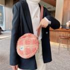 Faux-shearling Round Crossbody Bag