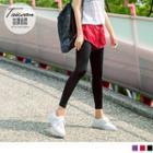 Inset Contrast Color Shorts Leggings