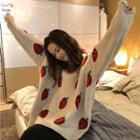 Fruit Patterned Sweater