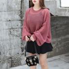 Plain Open-knit Sweater