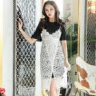 Set: Ruffled Dress + Sleeveless Lace Dress