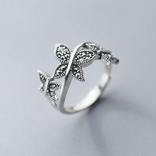 925 Sterling Silver Butterfly Ring Ring - One Size
