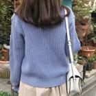 Colored Ribbed Cardigan