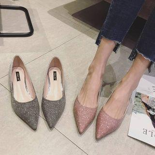 Sequined Pointy-toe Flats