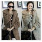 Hooded Thick Open Front Coat